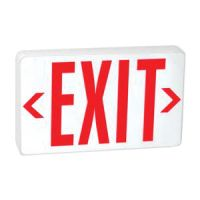 LED red UNIV EXIT SIGN - BATTERY BACKUP