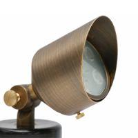 brass sonoma - 6 watt - LED large narrow flood - 3000 kelvin - 12v - includes plastic spike 1B