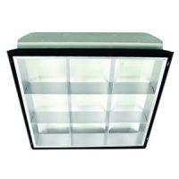 2x2 interior fixture - 9 cell parabolic - 2 lamp - F32U6 - 120-277v