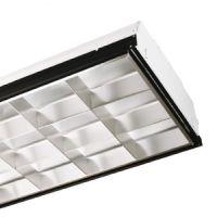 2x4 interior fixture - 12 cell parabolic - 2 lamp - F32T8 - 120-277v
