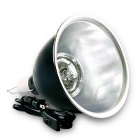 8.5 inch black dome light - 160 watt max - includes hanger and porcelain socket - 6 foot cord and switch