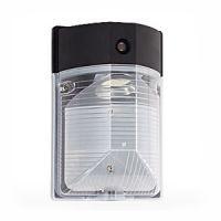 LED - mini wall pack - black - 25 watt - 4000 kelvin - photo cell - 120v - exceptional life - DLC