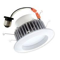 LED retrofit - 4 inch can - 9 watt - 5000 kelvin - white trim - medium base - dimmable - exceptional life - Energy Star