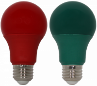 9 Watt Holiday LED, Red and Green, 60 Watt Equivalent, A19 Shape, 2 Pack. Made by GoodBulb, the sku for this item is GBLEDA19RDGN2.