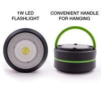 GoodBulb LED Outdoor Compact Solar Lantern w/ Rechargeable USB Power Bank (Green)