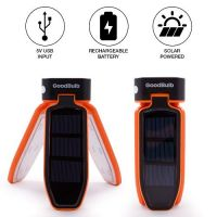 GoodBulb LED 3 Light Solar USB Camping Lantern, Foldable Design