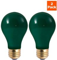 Green Light Bulb to Honor COVID-19 Victims | Incandescent A19 E26 Base | 2 pack
