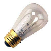 S14 Sign Bulb | 11 watt | 130 volt | Clear | Incandescent | E26 medium base | 25 pack