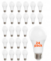 TCP LED 9 Watt A19 | 60 Watt Equal | Dimmable | Soft White | 2700K | 15,000 Life Hours | 24-pack
