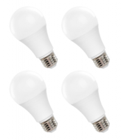 TCP LED 9.5 Watt A19 | 60 Watt Equal  | Non-Dimmable | Soft White | 2700K | 4-pack