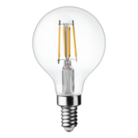 TCP Filament LED 3 Watt G16 | 25 Watt Equal | Dimmable | Soft White | 2700K | Clear | E12