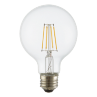 TCP Filament LED 4 Watt G25 | 40 Watt Equal | Dimmable | Soft White | 2700K | Clear