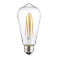 TCP LED 8 Watt ST19 | 60 Watt Equal | Dimmable | Warm White | 3000K | Classic Filament