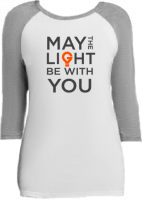 May The Light Be With You | Raglan Sleeve T-Shirt